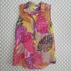 Liz Claiborne Tropical Blouse Medium